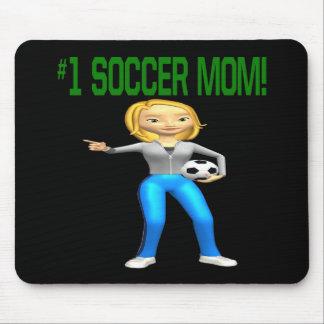 Mamá del fútbol alfombrilla de ratones