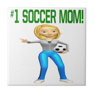 Mamá del fútbol azulejo cerámica