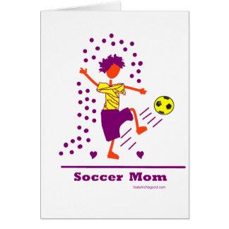¡Mamá del fútbol - bien amada! Tarjeta De Felicitación