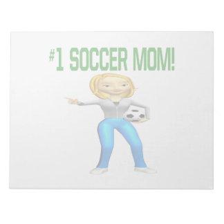 Mamá del fútbol libreta para notas
