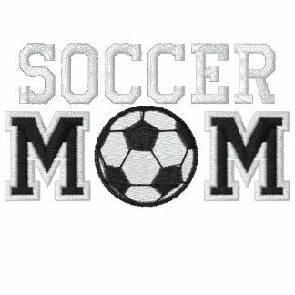 Mamá del fútbol sudadera bordada con capucha