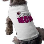 Mamá del fútbol camiseta de perrito