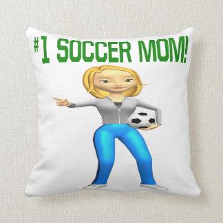 Mamá del fútbol almohadas
