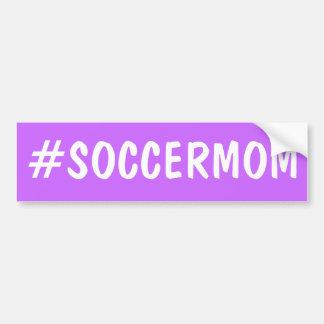 Mamá del fútbol de Hashtag Etiqueta De Parachoque