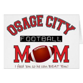 MAMÁ del fútbol de la ciudad de Osage Tarjeta De Felicitación