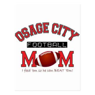 MAMÁ del fútbol de la ciudad de Osage Tarjetas Postales