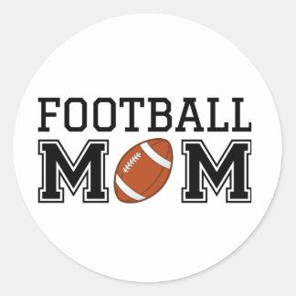 Mamá del fútbol, diseño del texto para la pegatina redonda