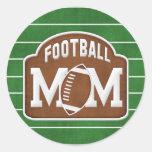 Mamá del fútbol etiquetas redondas