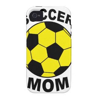 Mamá del fútbol Case-Mate iPhone 4 funda
