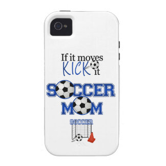 Mamá del fútbol iPhone 4/4S fundas
