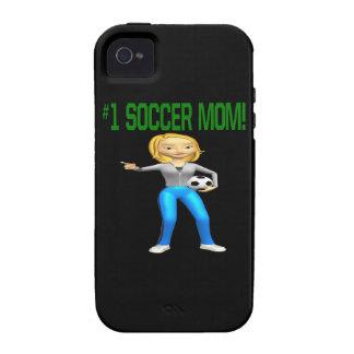 Mamá del fútbol vibe iPhone 4 fundas