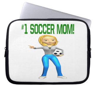 Mamá del fútbol funda ordendadores