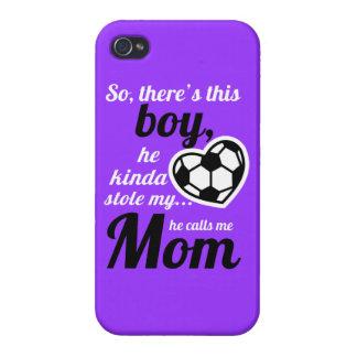 Mamá del fútbol iPhone 4 protector