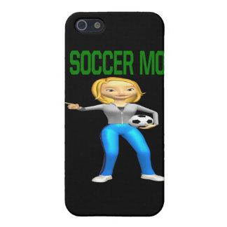 Mamá del fútbol iPhone 5 cárcasa