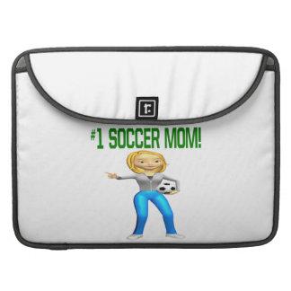 Mamá del fútbol fundas para macbook pro