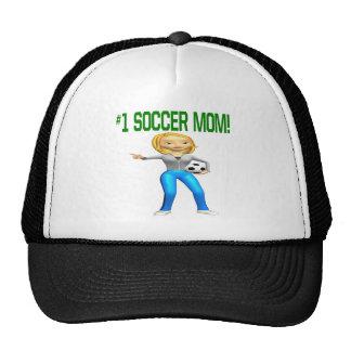 Mamá del fútbol gorros