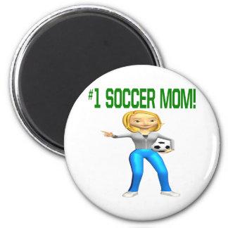 Mamá del fútbol imán de nevera