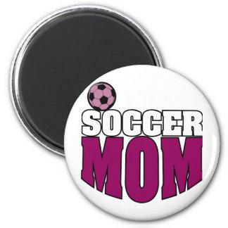 Mamá del fútbol imán para frigorífico