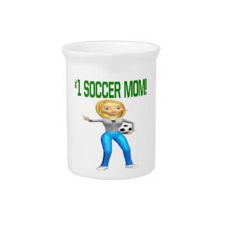 Mamá del fútbol jarron