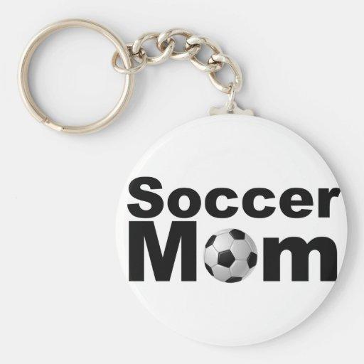 Mamá del fútbol llavero personalizado
