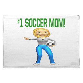 Mamá del fútbol mantel