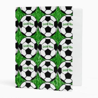 Mamá del fútbol mini carpeta