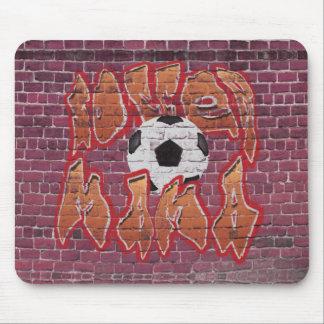 Mamá del fútbol (naranja) tapetes de ratones