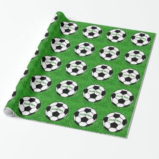 Mamá del fútbol papel de regalo