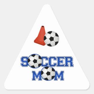 Mamá del fútbol colcomanias de triangulo