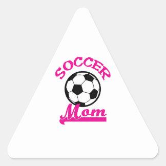 Mamá del fútbol pegatina triangular