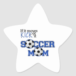 Mamá del fútbol pegatina forma de estrella