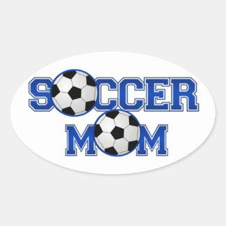 Mamá del fútbol colcomanias oval