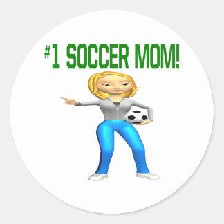 Mamá del fútbol pegatina
