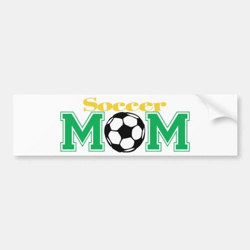 Mamá del fútbol pegatina de parachoque