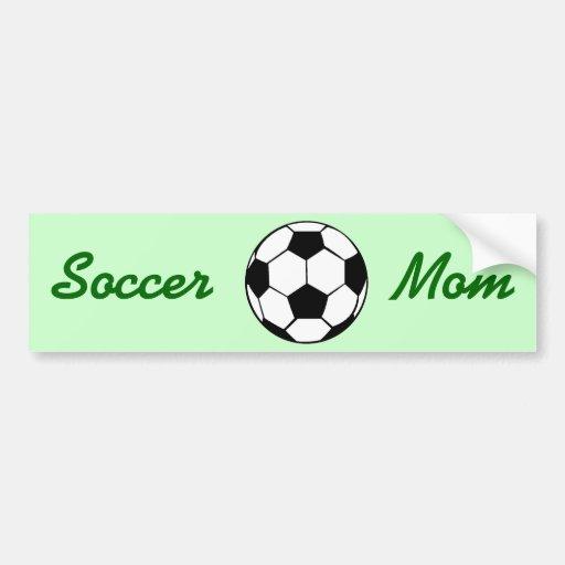 Mamá del fútbol pegatina para auto