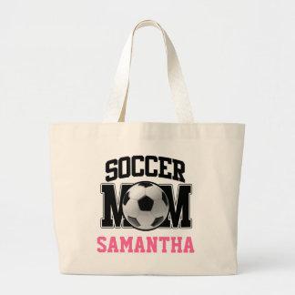 Mamá del fútbol personalizada bolsa de mano