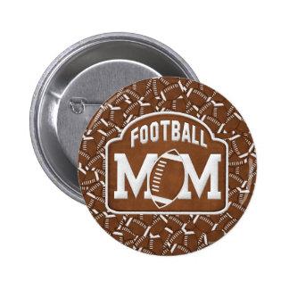Mamá del fútbol pin redondo de 2 pulgadas