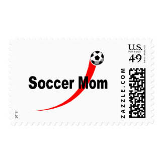 Mamá del fútbol (rojo/negro) sello