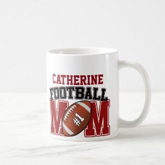 Mamá del fútbol (rojo/negro) taza de café