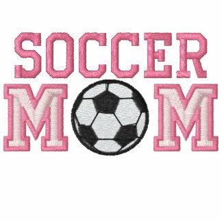 Mamá del fútbol - rosa sudadera con serigrafía