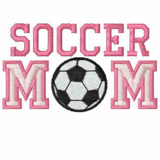 Mamá del fútbol - rosa sudadera bordada con serigrafía