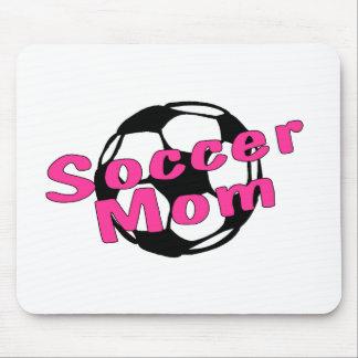 Mamá del fútbol (rosa) mouse pads