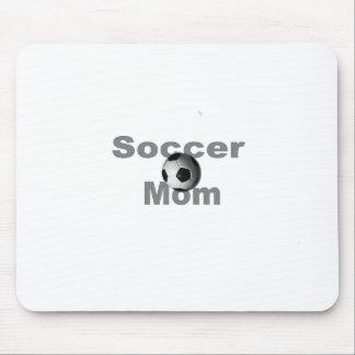 Mamá del fútbol tapete de ratones