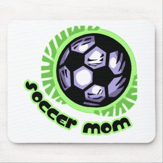 Mamá del fútbol tapetes de ratón