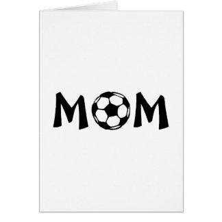 Mamá del fútbol felicitacion