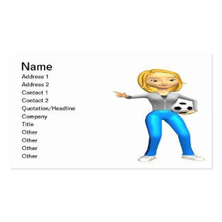 Mamá del fútbol tarjetas de visita
