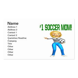 Mamá del fútbol tarjeta personal