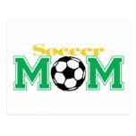Mamá del fútbol tarjeta postal