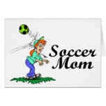 Mamá del fútbol tarjetas