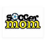 Mamá del fútbol tarjetas postales